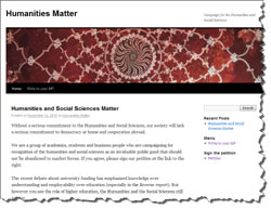 Humanities Matter web site