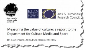 "Report on ""Measuring the Value of Culture"""