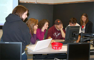 Students in Bloomsburg U. course