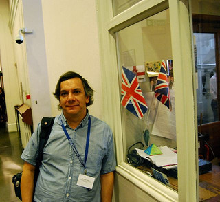 Ernesto Priani (UNAM) during DH2010, King's College London