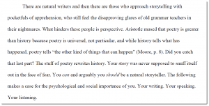 """Amy Bareham — """"Your Story and You: A Defense of Storytelling and Humanity"""""""
