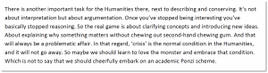 """Floris Solleveld — """"Was there ever not a Crisis in the Humanities?"""""""