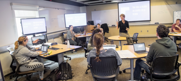 In the classroom with Christine Henseler at Union College.